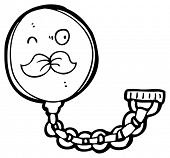 cartoon mustached monocle