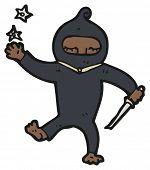 cartoon ninja (raster version)