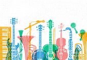 Musical Instruments, Guitar, Fiddle, Violin, Clarinet, Banjo, Trombone, Trumpet, Saxophone, Sax, Mus poster