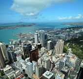Auckland City & Harbour Aerial View, New Zealand
