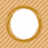Art Stroke Circle Brown Colors On Background Line Strip Soft Brown, White Copy Space, Circle Line Br poster