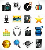 Abstract Multiple Media Icon Set