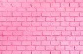 Pastel Pink Ordered Brick Wall Texture Background,backdrop For Lady Or Woman Concept. poster