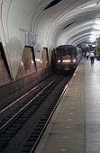 Arrival Of A Subway Train