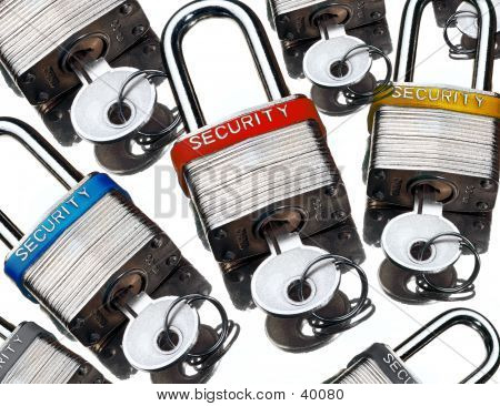 Picture or Photo of Security pad locks