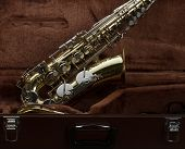 Saxophone with case