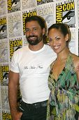 SAN DIEGO, CA - JULY 13: Manu Bennett and Cynthia Addai-Robinson arrives at the 2012 Comic Con conve