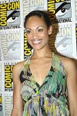 SAN DIEGO, CA - JULY 13: Cynthia Addai-Robinson arrives at the 2012 Comic Con convention press room