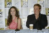 SAN DIEGO, CA - JULY 13: Summer Glau & Alan Tudyk attends a press conference for