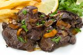 image of liver fry  - fried chicken liver - JPG
