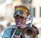 Funny Man Trombone Player