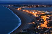 Chesil Beach At Night