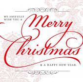 Vector Merry Christmas Background. Easy to edit. Perfect for invitations or announcements.