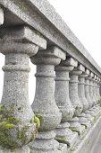 Old Stone Baluster Railing