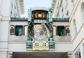 Astrononomical Uhr in Wien (Ankeruhr) - Anke-Uhr. Österreich