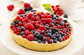 tarte with berries