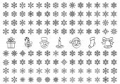 Christmas Snow Icons