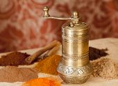 Golden Turkish Spice Mill