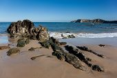 Beach Of Comillas, Cantabria, Spain