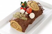 pic of yule  - homemade buche de noel - JPG