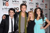 LOS ANGELES - DEC 12:  Freddie Smith, Blake Berris, Kristen Alderson, Camila Banus arrive to the NOH8 4th Anniversary Party at Avalon on December 12, 2012 in Los Angeles, CA
