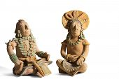 Two Terracotta Mayan Statues