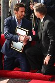 LOS ANGELES - DEC 13:  Hugh Jackman, Leron Gubler at the Hollywood Walk of Fame ceremony for Hugh Ja