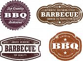 Vintage-Stil Barbecue BBQ Briefmarken
