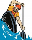 Kayak Paddling Front