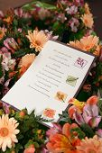 Wedding Flowers & Program
