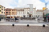 Piazza Cavour In Padua, Italy