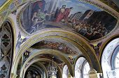 Interior Of The Barbara Church In Pochaev Lavra, The Painting On The Walls - Jesus Christ Before The