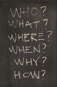 The Six Most Common Questions Written On A Blackboard