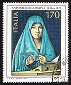 Postage Stamp Italy 1979 Shows Virgin Mary, By Antonello Da Mess