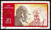Postage Stamp Ddr 1970 Lenin And Clara Zetkin