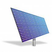 Solar Panel For Alternative Energy Isolated On White. Ecological Power.
