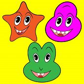 Three Happy Faces