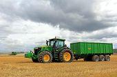 John Deere Tractor And Combine Harvesting