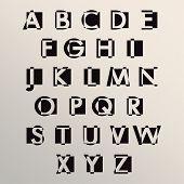 Modern alphabet set
