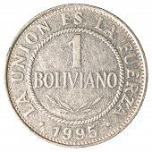 1 bolivian boliviano coin