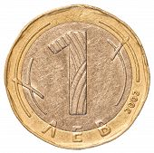 One Bulgarian Leva Coin