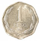 One Chilean Peso Coin