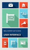 Colorful Real Estate Ui Apps User Interface Flat Icons.