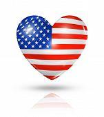 Love Usa, Heart Flag Icon