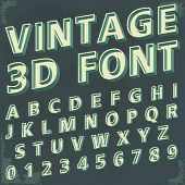 picture of birth  - 3D Retro type font - JPG
