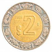 2 Mexican Peso Coin