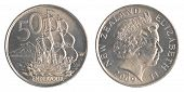 50 New Zealand Cents Coin