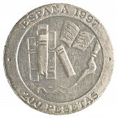 200 spanish pesetas coin