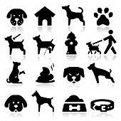 stock photo of paws  - Dog Icons - JPG