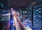 SEOUL - FEBRUARY 18: Gangnam District viewed down Teheranno Street February 18, 2013 in Seoul, South